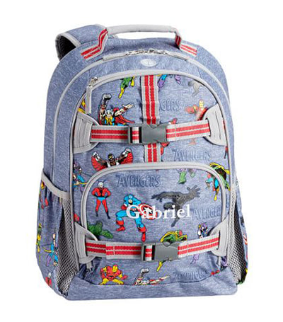 pottery barn kids navy mackenzie marvel avengers backpack