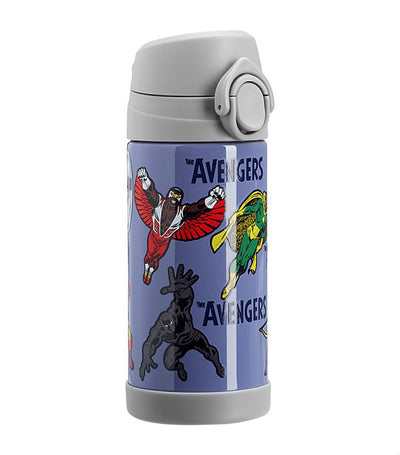 pottery barn kids navy mackenzie marvel avengers glow-in-the-dark regular water bottle