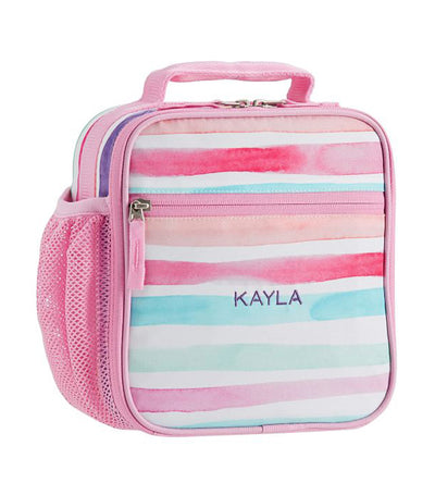 pottery barn kids pink mackenzie kayla rainbow classic lunch bag