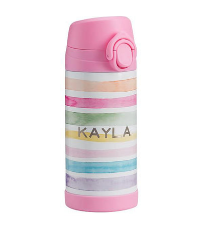 pottery barn kids pink mackenzie kayla rainbow regular water bottle