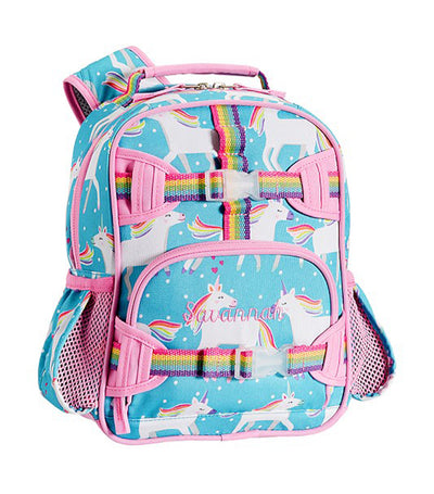 pottery barn kids aqua mackenzie unicorn parade backpack mini