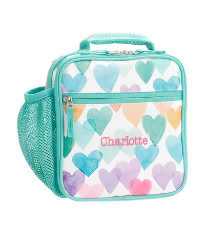 pottery barn kids mackenzie rainbow hearts classic lunch bag