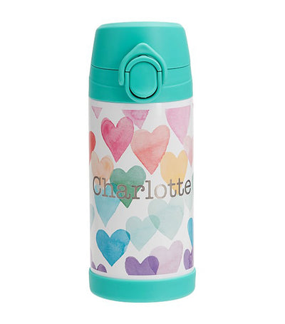 pottery barn kids mackenzie rainbow hearts regular water bottle