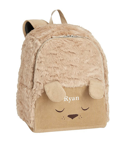 pottery barn kids mackenzie labradoodle fur critter backpack - large