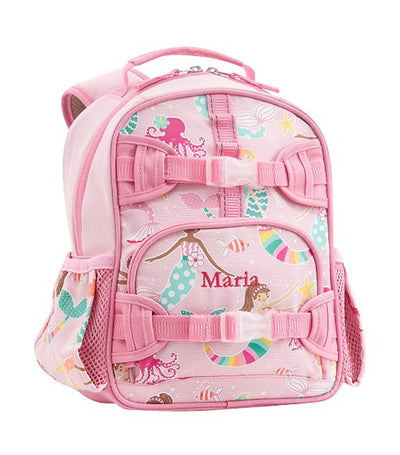pottery barn kids pink mackenzie mermaid friends glow-in-the-dark backpack mini