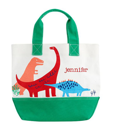 pottery barn kids preppy tote - dino safari