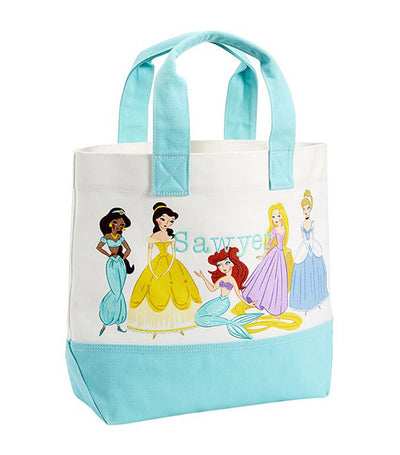 pottery barn kids aqua disney princess tote