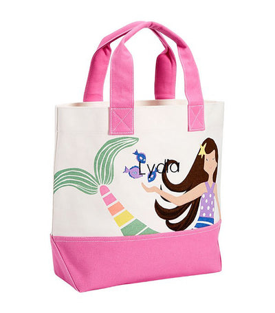 pottery barn kids mermaid tote