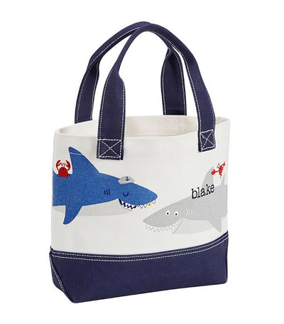 pottery barn kids nautical shark tote