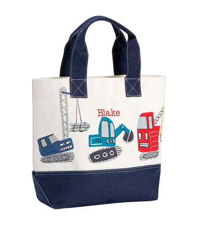 pottery barn kids navy jax construction tote
