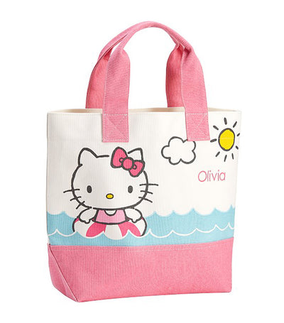 pottery barn kids pink hello kitty tote