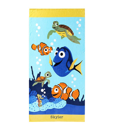 pottery barn kids disney and pixar finding nemo kid beach towel