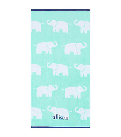 pottery barn kids elephant jacquard towel collection - bath towel