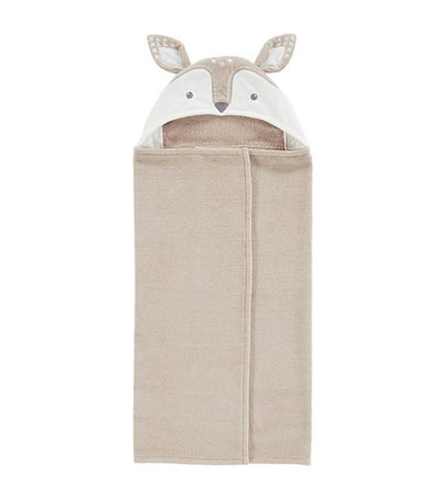 pottery barn kids taupe fawn baby hooded towel