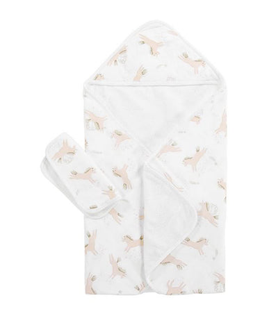 pottery barn kids mila muslin baby hooded towel and washcloth set