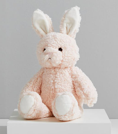 pottery barn kids blush long ear metallic bunny plush toy