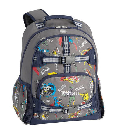 pottery barn kids mackenzie justice league™ glow-in-the-dark small backpack