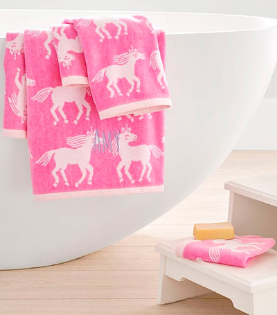 pottery barn kids unicorn towel collection bath towel