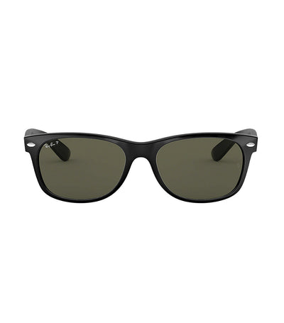 ray-ban new wayfarer sunglasses large 58 black rubber