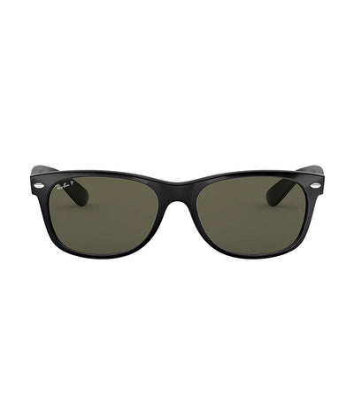 ray-ban new wayfarer sunglasses large 58 black polarized