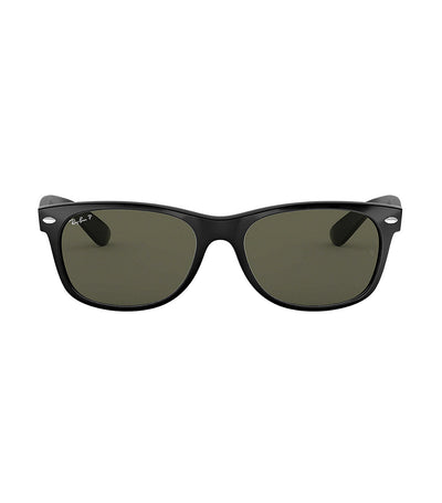 ray-ban new wayfarer sunglasses 55 black