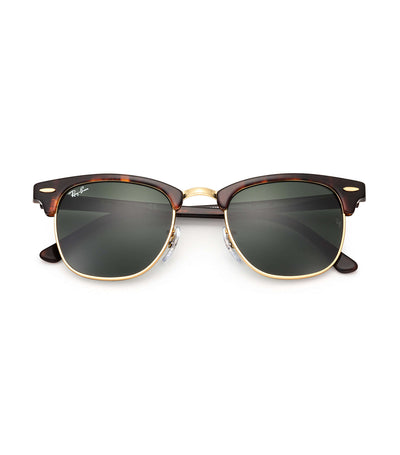 ray-ban clubmaster classic sunglasses 51 tortoise