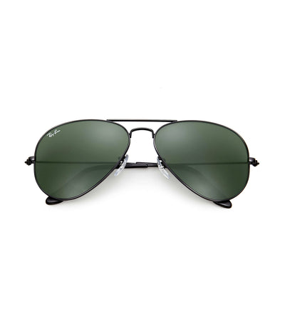 ray-ban aviator classic sunglasses 58 black