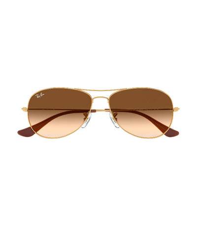 ray-ban cockpit sunglasses gradient gold