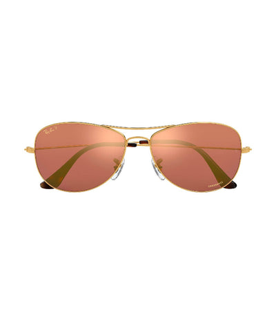 ray-ban chromance cockpit gold