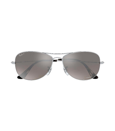 ray-ban chromance cockpit silver
