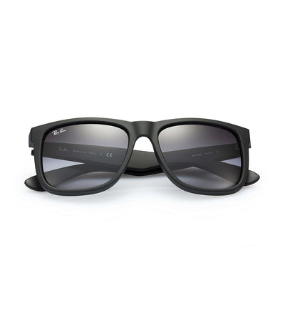 ray-ban youngster flash lens rubber sunglasses 55 gray mirror