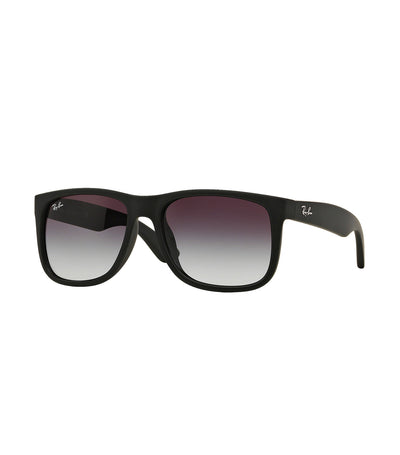 ray-ban justin rubber sunglasses 55 gray gradient