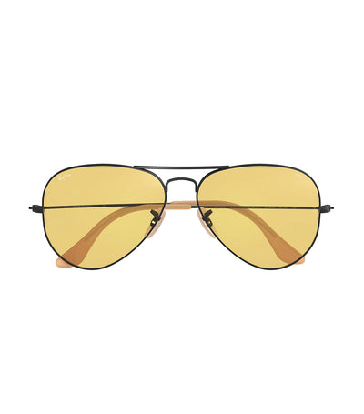 ray-ban aviator evolve sunglasses 58 photocromic yellow