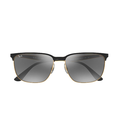 ray-ban active lifestyle grey mirror silver gradient