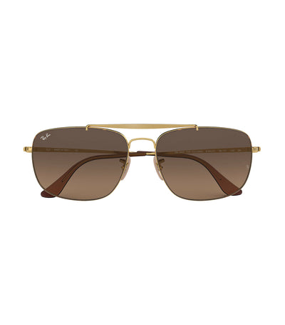 ray-ban the colonel sunglasses brown gradient