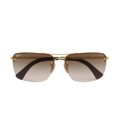 ray-ban highstreet caravan sunglasses brown
