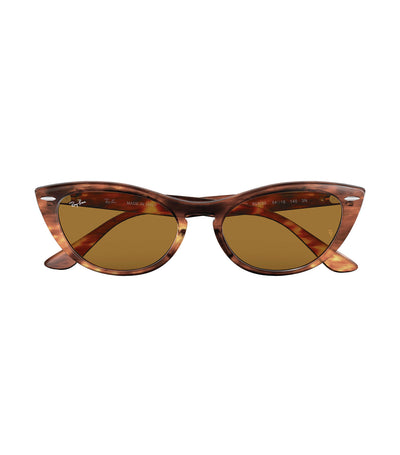 ray-ban nina sunglasses 54 havana brown