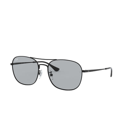 ray-ban asian square metal sunglasses 58 gray