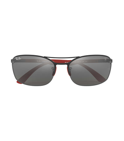 ray-ban ferrari carbon fiber sunglasses 63 gray mirror