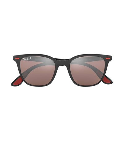 ray-ban ferrari liteforce 51 sunglasses red mirror