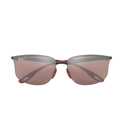 ray-ban ferrari active sunglasses 63 polarized red mirror