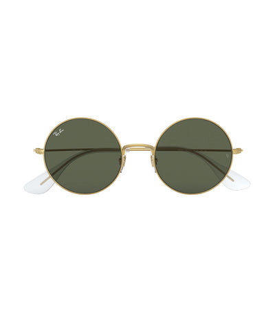ray-ban ja-jo round sunglasses green