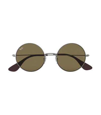 ray-ban ja-jo round sunglasses brown