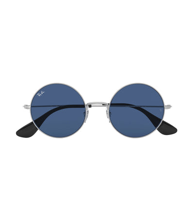 ray-ban ja-jo round sunglasses dark blue