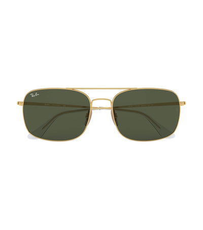 ray-ban highstreet metal sunglasses green