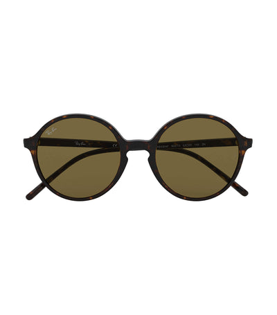 ray-ban youngster round sunglasses brown