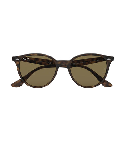 ray-ban highstreet phantos sunglasses dark brown