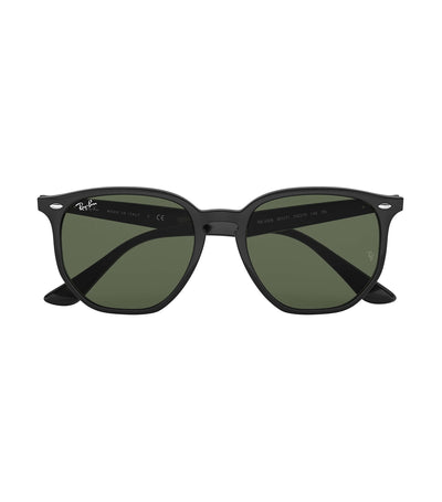 ray-ban highstreet hexagon sunglasses green