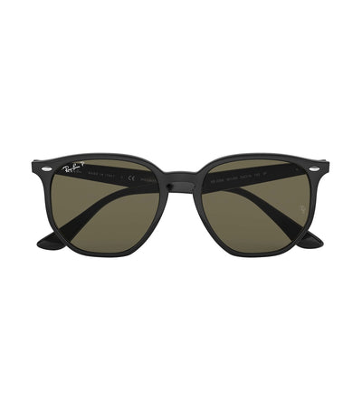 ray-ban highstreet hexagon sunglasses polarized green