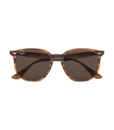 ray-ban highstreet hexagon sunglasses dark brown